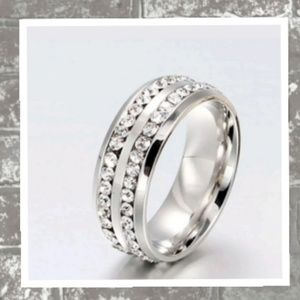 Other - Stainless Steel and CZ Ring